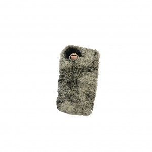 sheclassy winter fluffy furry iphone case grijs